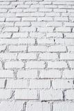Textura blanca de la pared de ladrillo fotografía de archivo libre de regalías