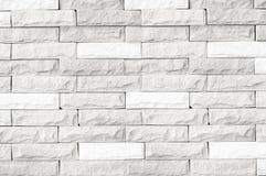 Textura blanca de la pared de ladrillo/textura blanca de la pared de ladrillo del ideal moderno para el fondo y usado en diseño i fotografía de archivo libre de regalías