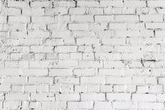 Textura blanca de la pared de ladrillo Fondo wheathered envejecido Modelo texturizado blanco abstracto Foto de archivo libre de regalías