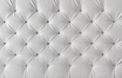 Textura blanca de la tapicería de cuero, fondo del modelo Fotografía de archivo
