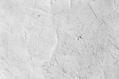 Textura blanca decorativa del yeso, fondo inconsútil Muro de cemento sucio, pared de piedra del alto fragmento detallado cemento imágenes de archivo libres de regalías