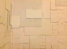 Textura blanca del crespón-papel del cartón Fotografía de archivo