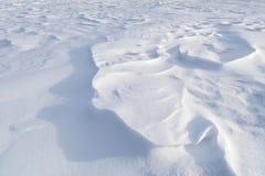 Textura blanca del fondo de la nieve del invierno Fotografía de archivo