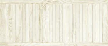 Textura blanca del tablón de madera del pino Foto de archivo