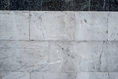 Textura blanca y negra de la albañilería de piedra Foto de archivo libre de regalías