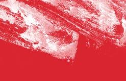 Textura blanca y roja del fondo de la pintura con los movimientos del cepillo del grunge imágenes de archivo libres de regalías