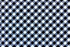 Textura blanco y negro de la tela de materia textil de la tela escocesa para el fondo foto de archivo