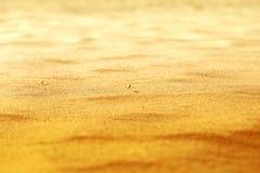 Textura bonita da areia amarela Imagens de Stock