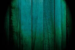 Textura bonita das venezianas da madeira natural de escuro - turquesa da cor verde fotos de stock