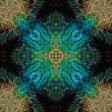 Textura bonita do fundo do teste padrão feita do ` s f do Peafowl verde imagem de stock