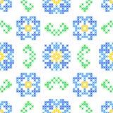 Textura bordada sem emenda de flores e das folhas abstratas Imagem de Stock