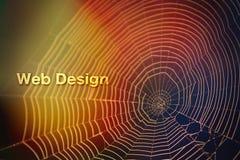 Textura borrada do fundo do design web da aranha luz colorida imagens de stock
