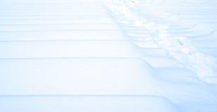 Textura branca azul da neve do inverno Fotografia de Stock