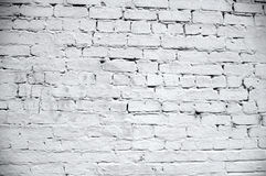 Textura branca da parede de tijolo Imagem de Stock Royalty Free