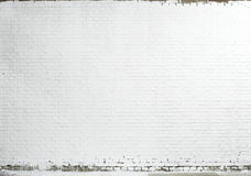 textura branca da parede de tijolo Fotos de Stock