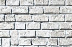 Textura branca da parede de tijolo Fotografia de Stock Royalty Free