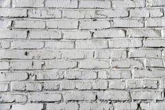 Textura branca da parede de tijolo Fotos de Stock Royalty Free