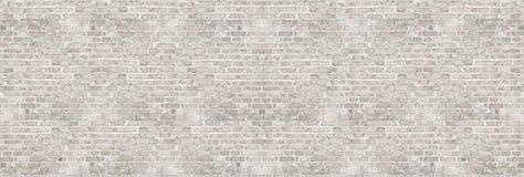 Textura branca da parede de tijolo da lavagem do vintage para o projeto Fundo panorâmico foto de stock royalty free