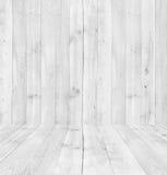 Textura branca da prancha de madeira do pinho para o fundo Fotos de Stock
