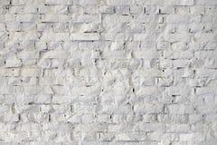 Textura branca do fundo da parede de tijolo Imagem de Stock