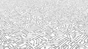 Textura branca do teste padrão da placa de circuito fundo da Alto-tecnologia na escavação ilustração stock