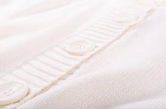 Textura branca feita malha do jérsei Imagens de Stock Royalty Free
