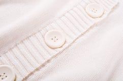 Textura branca feita malha do jérsei Imagem de Stock