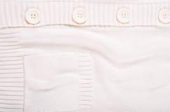 Textura branca feita malha do jérsei Fotografia de Stock Royalty Free