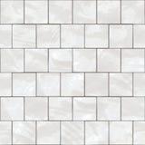 Textura branca sem emenda das telhas ilustração do vetor