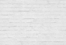 Textura branca sem emenda do teste padrão da parede de tijolo Fotos de Stock