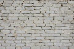 Textura branca velha da parede de tijolo foto de stock