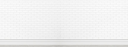 Textura branca velha da parede de tijolo para o uso do fundo como o modelo do projeto da bandeira do tela panorâmico do contexto