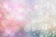 Textura brilhante branca do fundo de Bokeh do sum?rio do rosa festivo no tom da cor pastel Contexto bonito com espa?o ilustração royalty free