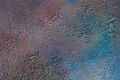 A textura brilhante, colorida da superfície do emplastro ao estilo de um sótão, pode ser usada como um fundo material natural, au ilustração stock