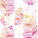 Textura brillante con las plumas Imágenes de archivo libres de regalías
