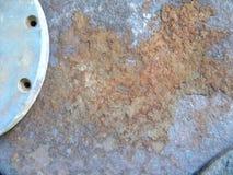 Textura brillante del metal oxidada Fotografía de archivo libre de regalías