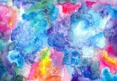 Textura brillante multicolora de la acuarela Fotos de archivo libres de regalías