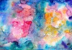 Textura brillante multicolora de la acuarela Fotografía de archivo libre de regalías