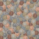 Textura britânica das moedas fotografia de stock royalty free