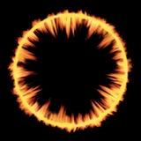 Textura cósmica del fuego de la onda de choque de la explosión Fotografía de archivo