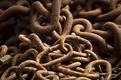 Textura chain oxidada Imagens de Stock