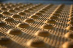 Textura ciega del paso de peatones imagen de archivo
