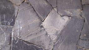Textura cinzenta e preta da parede ou do assoalho de pedras Imagem de Stock Royalty Free