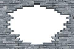 Textura cinzenta sem emenda da parede do furo da descoberta da ardósia imagem de stock royalty free