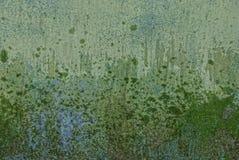 Textura cinzenta verde do metal da parede suja e molhada do ferro fotos de stock royalty free