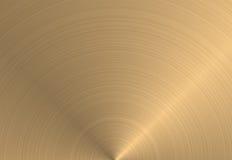 Textura circular del metal del oro   stock de ilustración