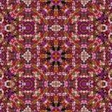 Textura color de rosa del caleidoscopio de la oscuridad stock de ilustración