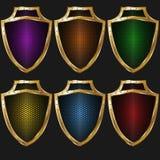Textura-color del escudo del oro Imagen de archivo libre de regalías