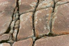 Textura coloreada de la piedra de la montaña por el CU en autum foto de archivo libre de regalías