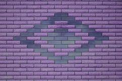 Textura coloreada resistida moderna de la pared de ladrillo de la pizarra Foto de archivo